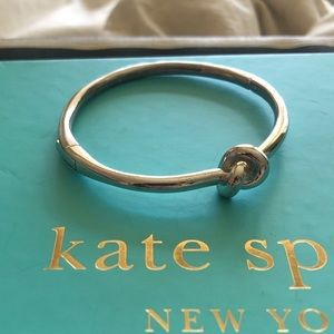 Kate spade love knot silver hinge bracelet